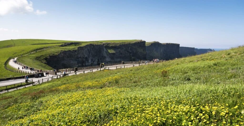 Picture of the visitor centre at the cliffs of moher